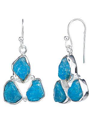 Rugged Aquamarine Earrings