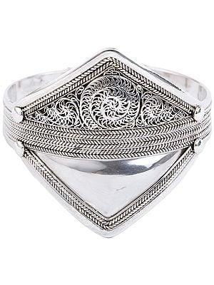 Filigree Cuff  Bracelet (Adjustable Size)
