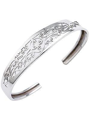 Elegantly Intricate Jali Cut Cuff Bracelet from Nepal (Adjustable Size)