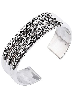 Elegant Stackable Looking Cuff Bracelet from Nepal (Adjustable Size)