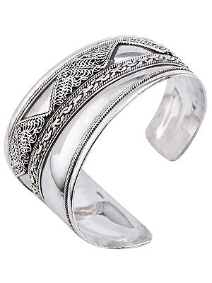 Assymetric Filigree Cuff Bracelet Design from Nepal (Adjustable Size)