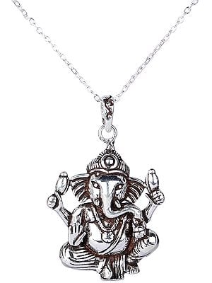 Deity Lord Ganesha Pendant from Nepal