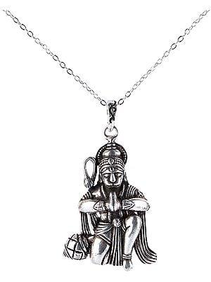Lord Hanuman Sitting Pendant from Nepal