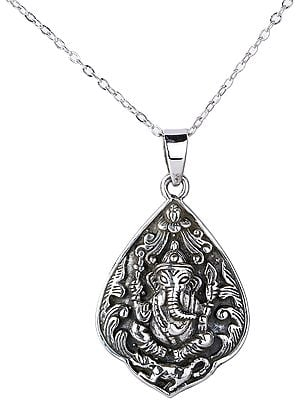Deity Lord Ganesha Pendant with from Nepal