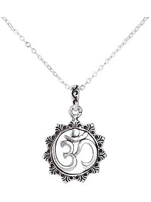 Om Pendant with Mandala from Nepal
