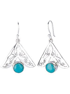 Jali (Lattice) Earrings with Turquoise
