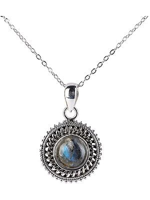 Chakra (Round) Sterling Silver Pendant