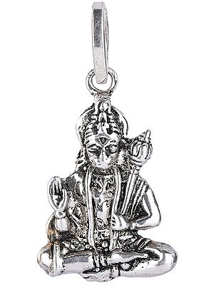 Lord Hanuman Pendant in Yogasana and Abhaya Mudra