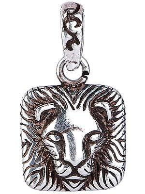 Lion Face Square Pendant