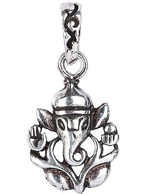 Lord Ganesha Pendant in Ashirwad Mudra