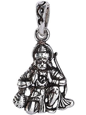 Lord Hanuman Pendant  Showing Ram Sita in His Chest