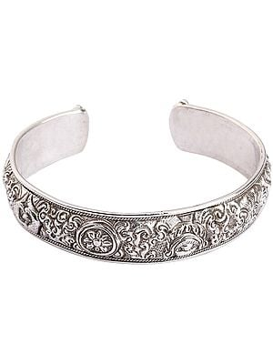 Eight Auspicious Symbols Cuff Bracelet (Adjustable Size)
