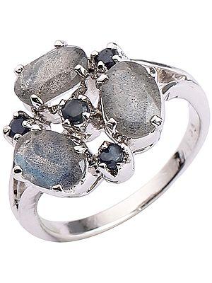 Sterling Silver Gems Ring