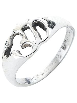 OM (AUM) Sterling Silver Ring
