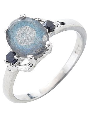 Sterling Silver Ring with Gemstones