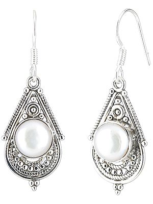 Pearl Studded Sterling Silver Earrings