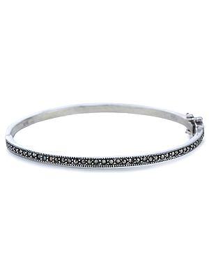 Sterling Silver Marcasite Bangle Bracelet