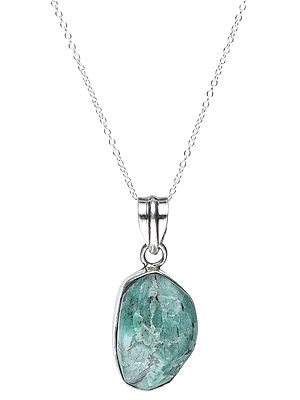 Sterling Silver Pendant with Amazonite Gemstone