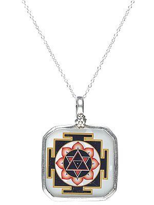 Yantra Sterling Silver Pendant