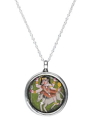 Tantric Goddess Sitting on a Donkey Reversible Pendant