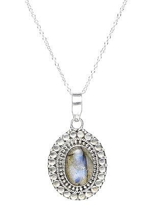 Sterling Silver Pendant with Labradorite Gemstone