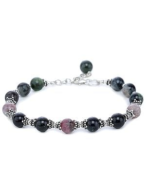 Tourmaline Bracelet with Sterling Silver