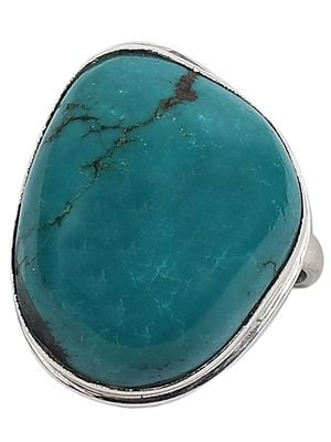 Beautiful Turquoise Ring With Sterling Silver