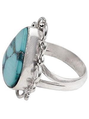 Sterling Silver Designer Turquoise Ring