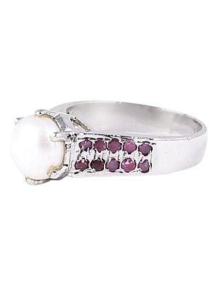 Precious Sterling Silver Gemstone Ring