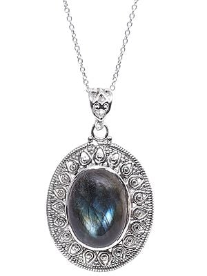 Sterling Silver Pendant with Powerful Gemstone