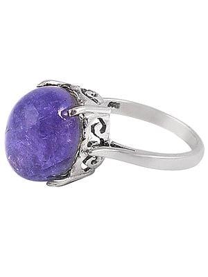 Precious Kyanite Gemstone Ring with Sterling Silver