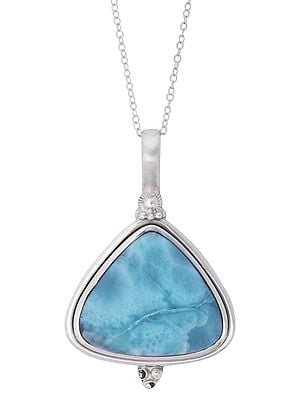 Triangular Amazonite Pendant with Sterling Silver