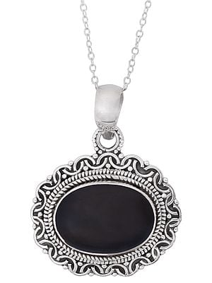 Sterling Silver Pendant Studded with Gemstone