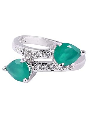 Sterling Silver Ring with Gemstone
