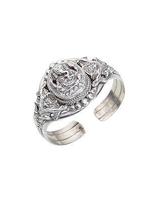 Lord Ganesha Sterling Silver Bracelet (Made in Nepal)