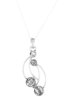 Sterling Silver Pendant with Round Rutilated Stone