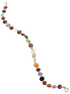 Vibrant Multi-Gemstone Beads Bracelet