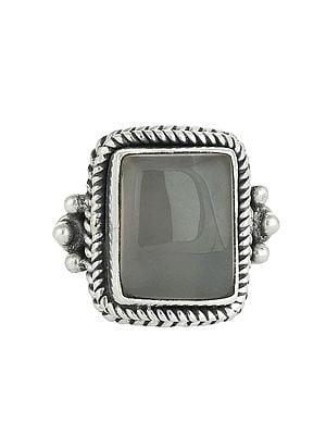 Rose Quartz Ring - Sterling Silver