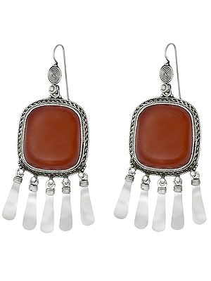 Amber Earrings With Dangles
