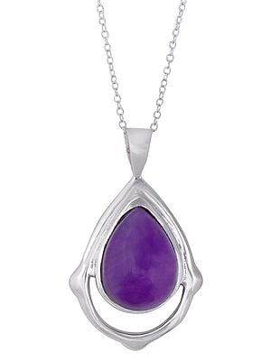 Gemstone Studded Pendant with Sterling Silver