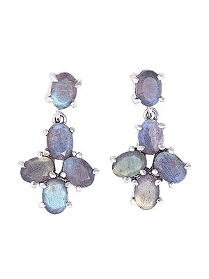 Fascinating Labradorite Stone Studded Earrings