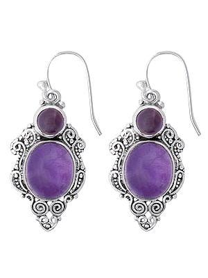 Sterling Silver Earrings with Beautiful Gemstone