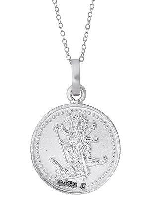 Shri Maha Kali Yantra in Fine Silver Pendant