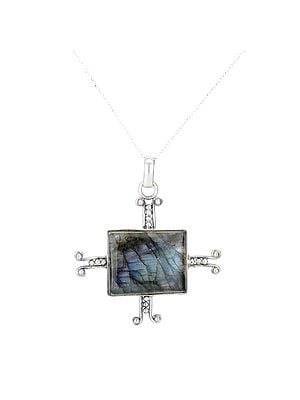 Sterling Silver Pendant with Labradorite Stone
