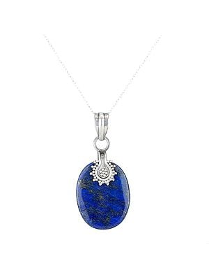 Lapis Lazuli Pendant with A Sterling Silver Design