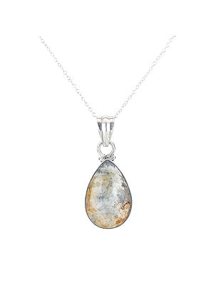 Drop Shaped Agate Stone Pendant