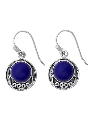 Stylish Sterling Silver Earrings with Gemstone