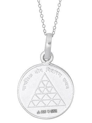 Manglik Dosha Nivarana Yantra in Fine Silver Pendant