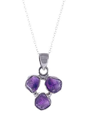 Sterling Silver Pendant with Rugged Gemstone