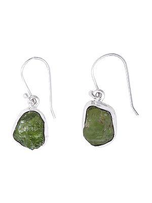 Stylish Earrings with Rugged Gemstone